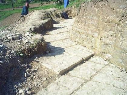 Walkway at the Pyramid of the Moon