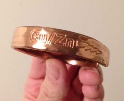 Copper Zinc Bracelet Small The